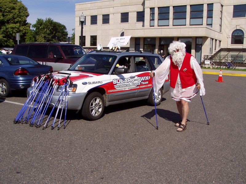 Finn Fest Nordic Walking Santa Claus
